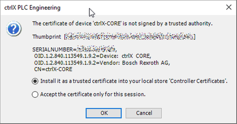 Online > Login > Certificate