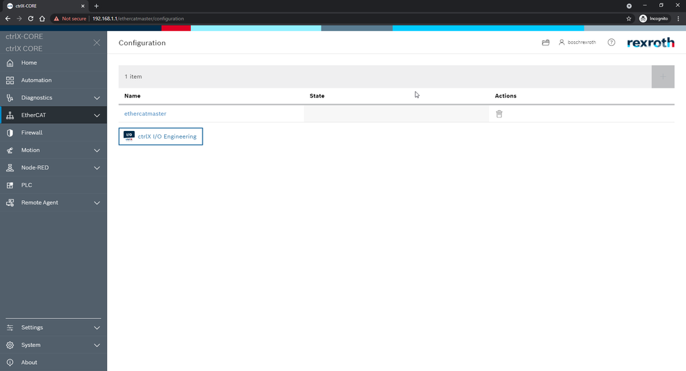 EtherCAT > Configuration > [ctrlX I/O Engineering]