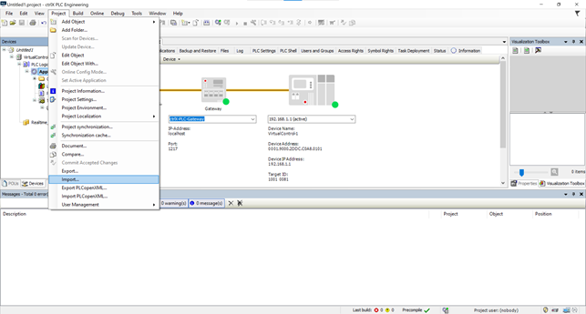 Figure 10: Import the exported file from iPhysics